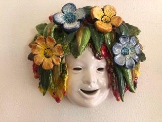Maschera 25x25 con fiori