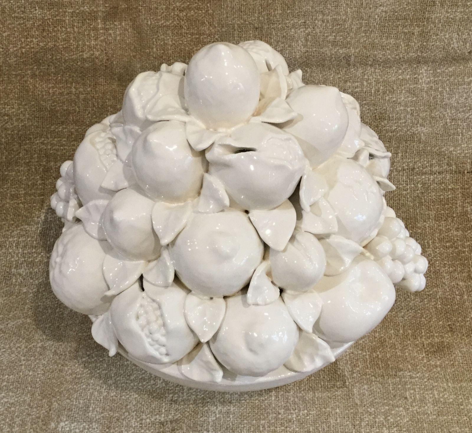 Fruttiera h32x32 frutta mista bianca