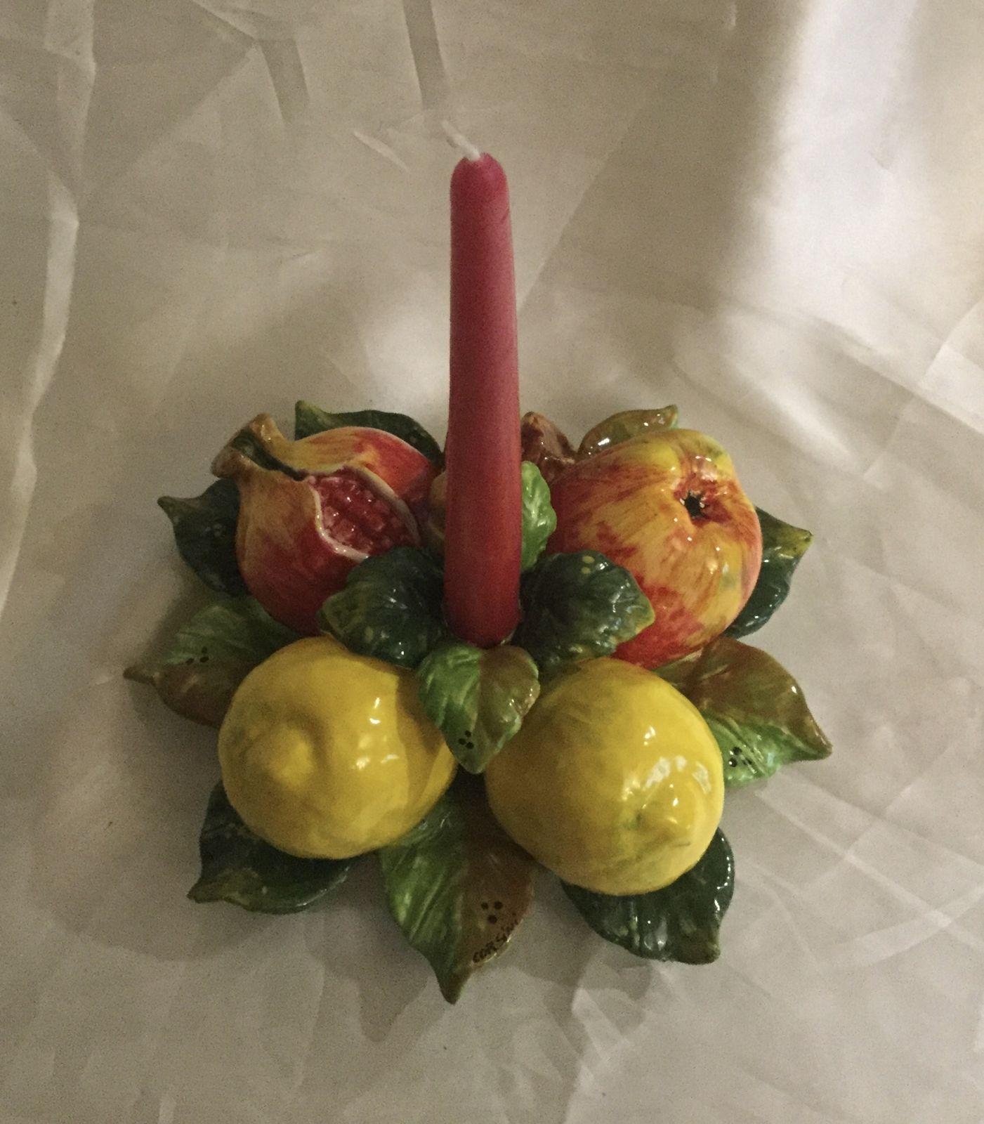 Candeliere cm 22 limoni,Melograno,mela 1 fiamma
