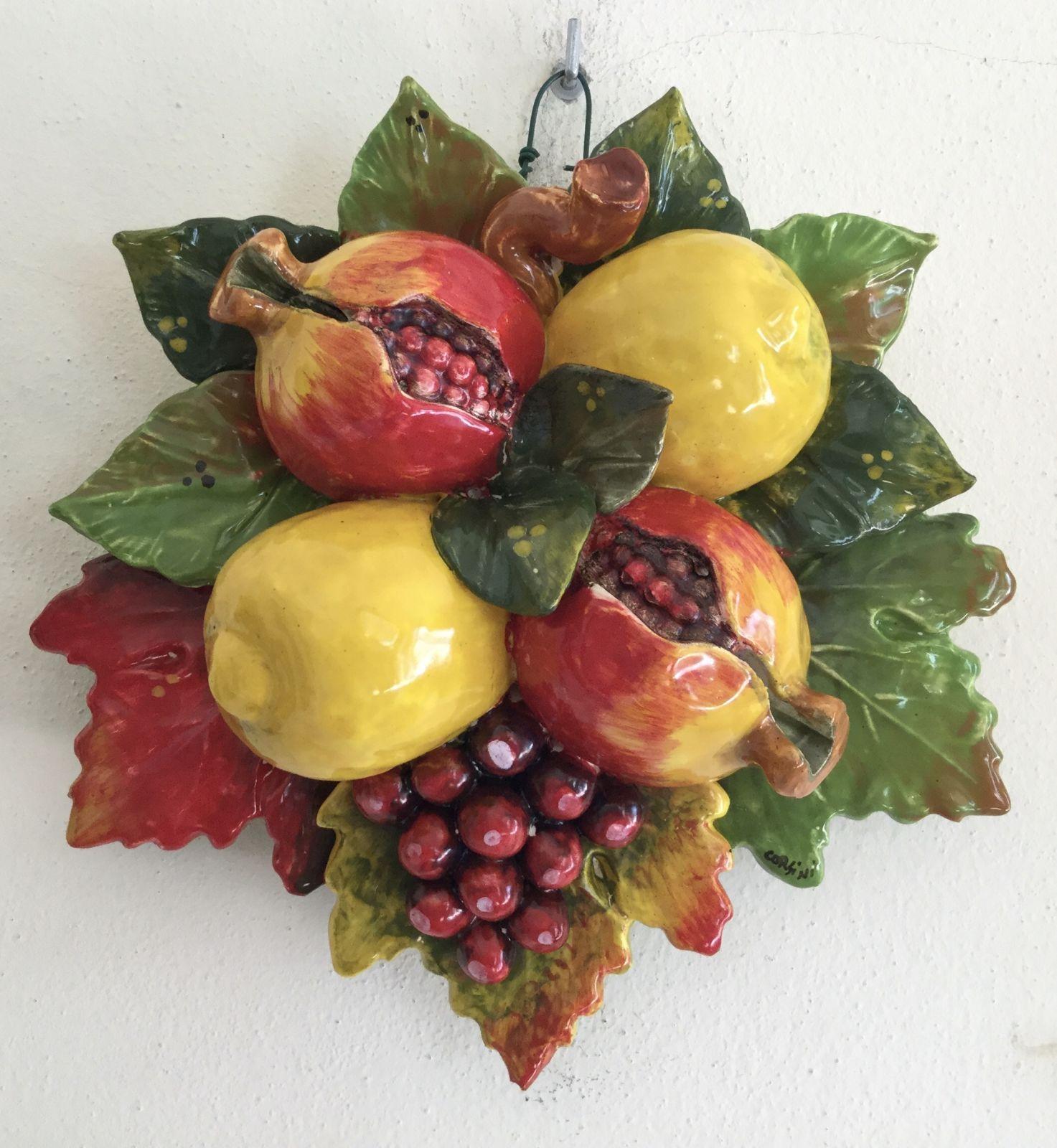 Composizione limoni,melograno,uva  Cm 25x25