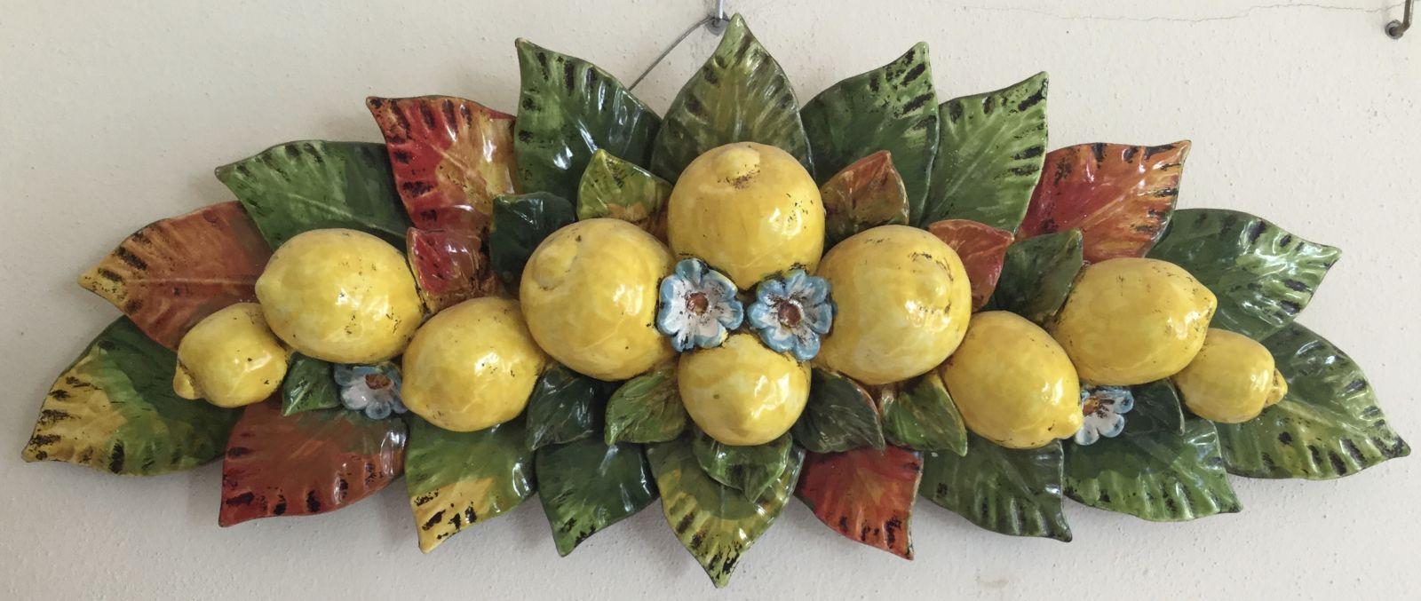 Sopraporta con limoni cm 70x25