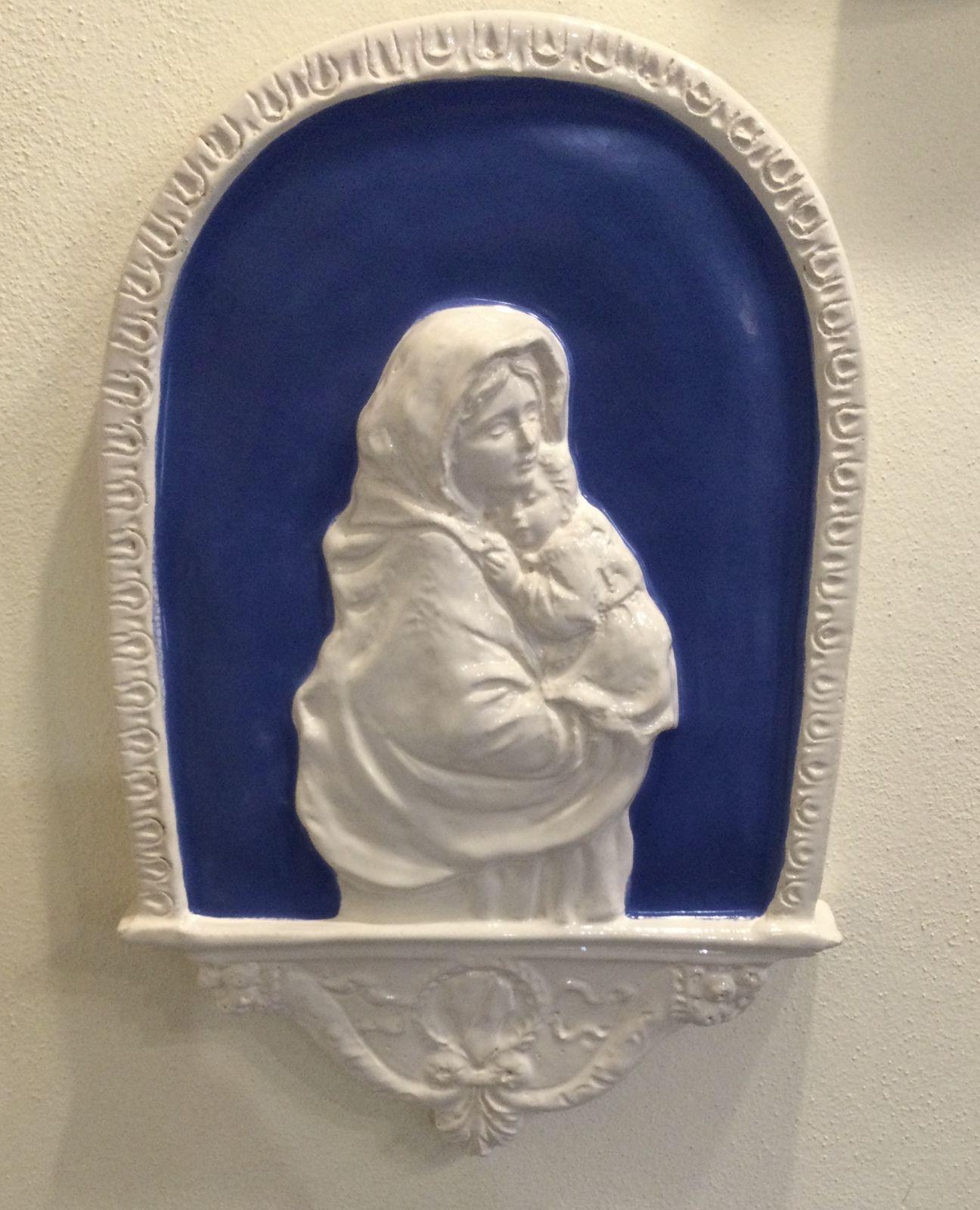 Madonna con bambino su altare h43xL28