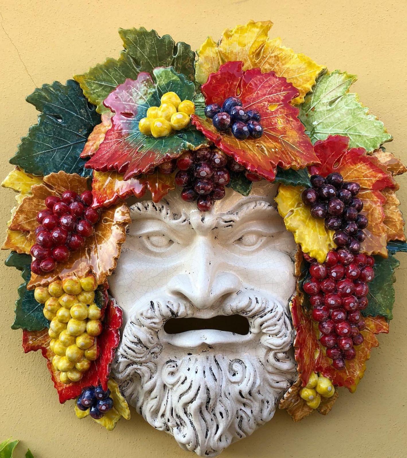 Mascherone  Bacco con uva h55 L50