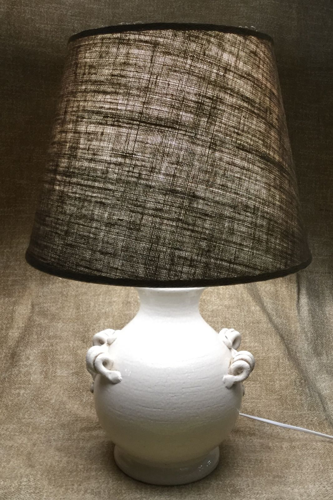 Lampada h38 in ceramica invecchiata