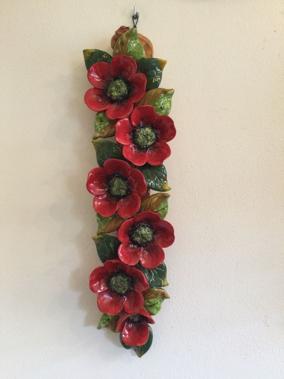 Large branch h50 with poppies