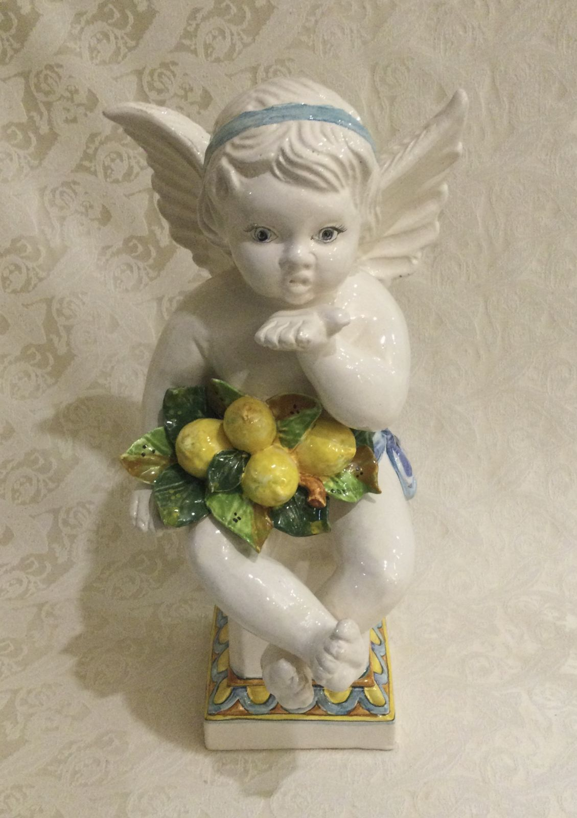 Angiolino Buttabaci con limoni h40 L19 base 12x12
