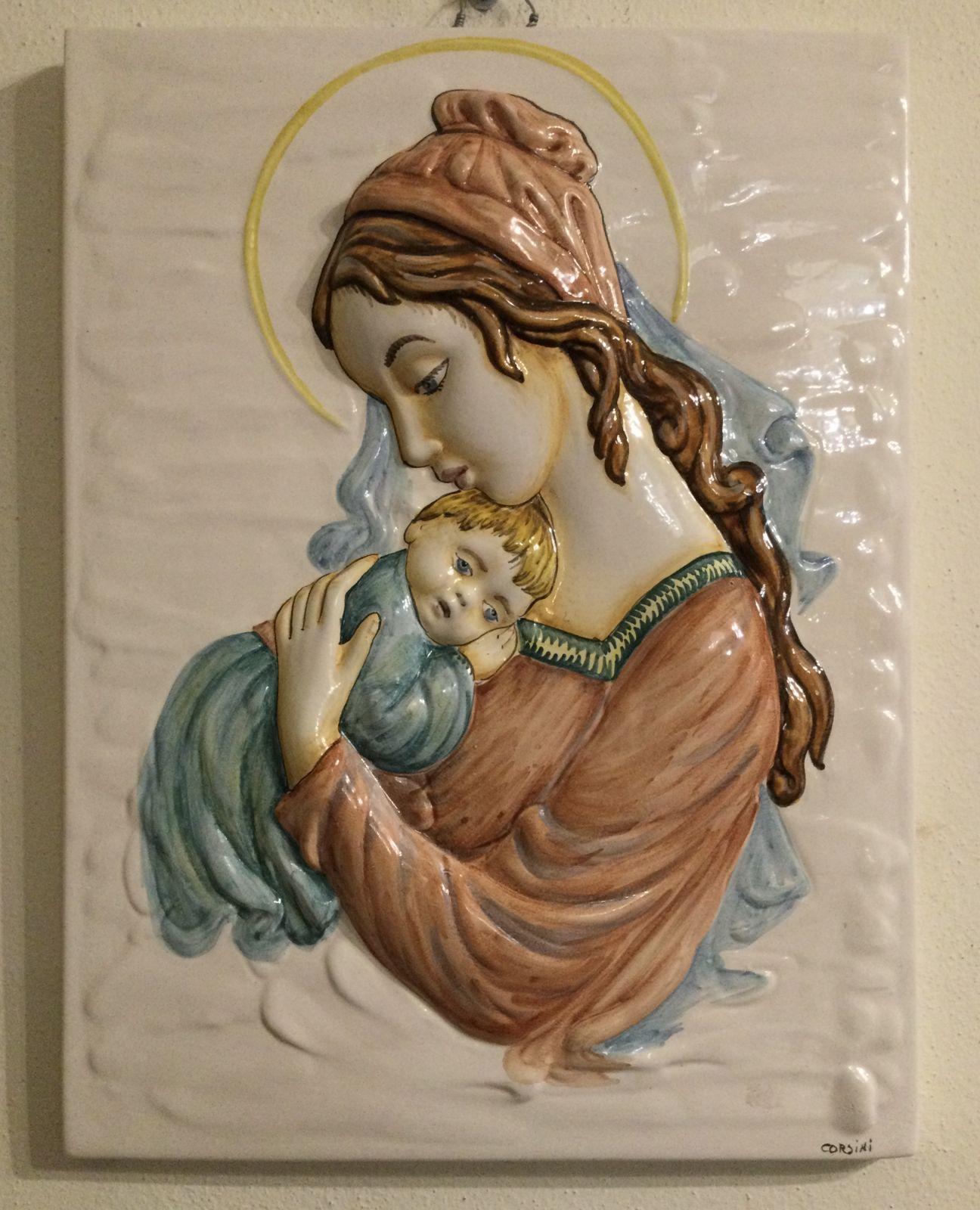 Madonna con bambino h36xL28