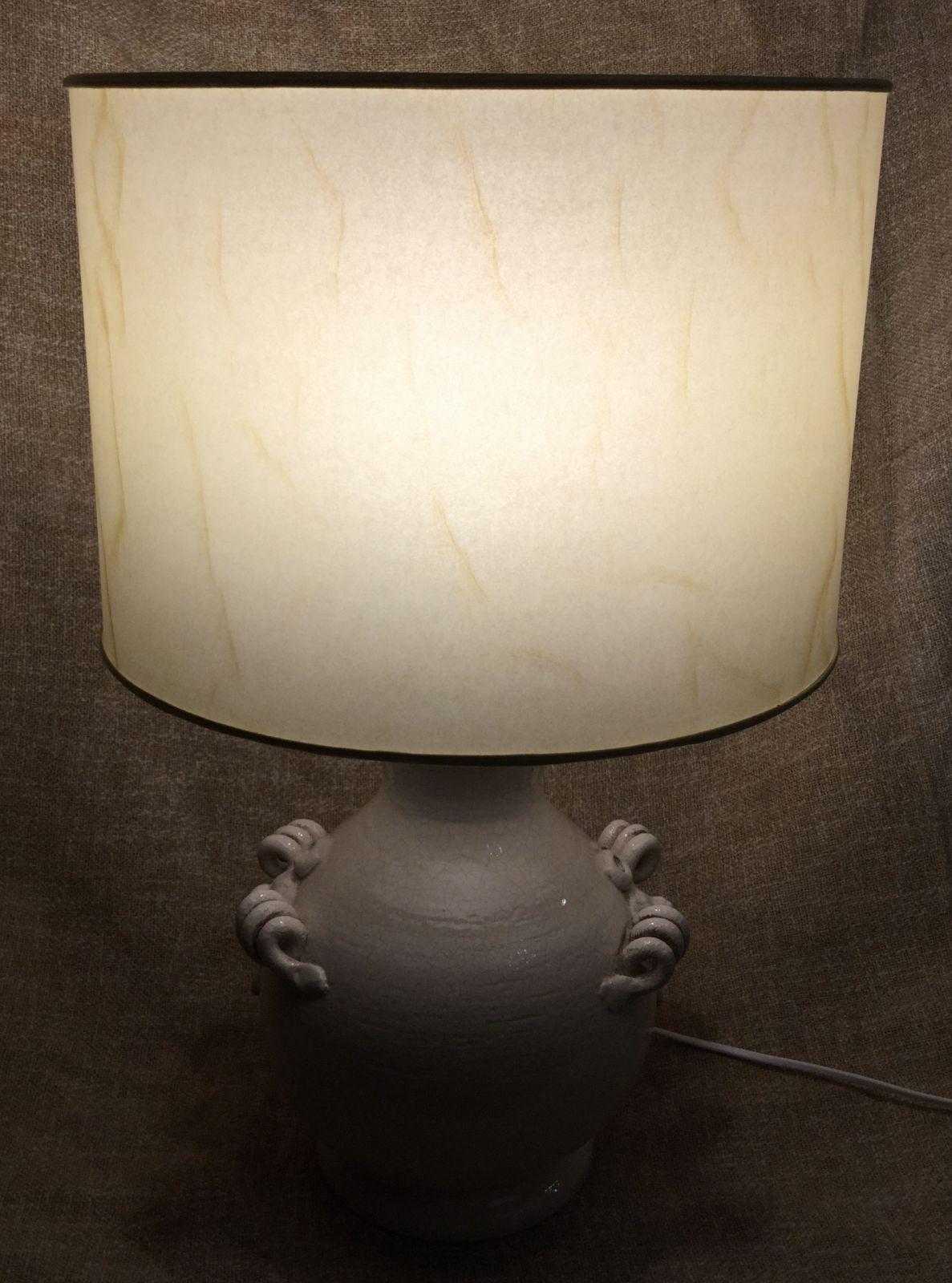 Lampada h45 in ceramica invecchiata