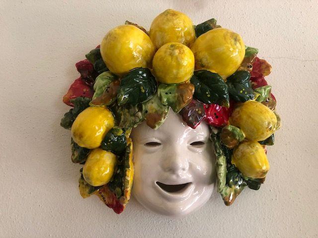 Maschera 25x25 con limoni