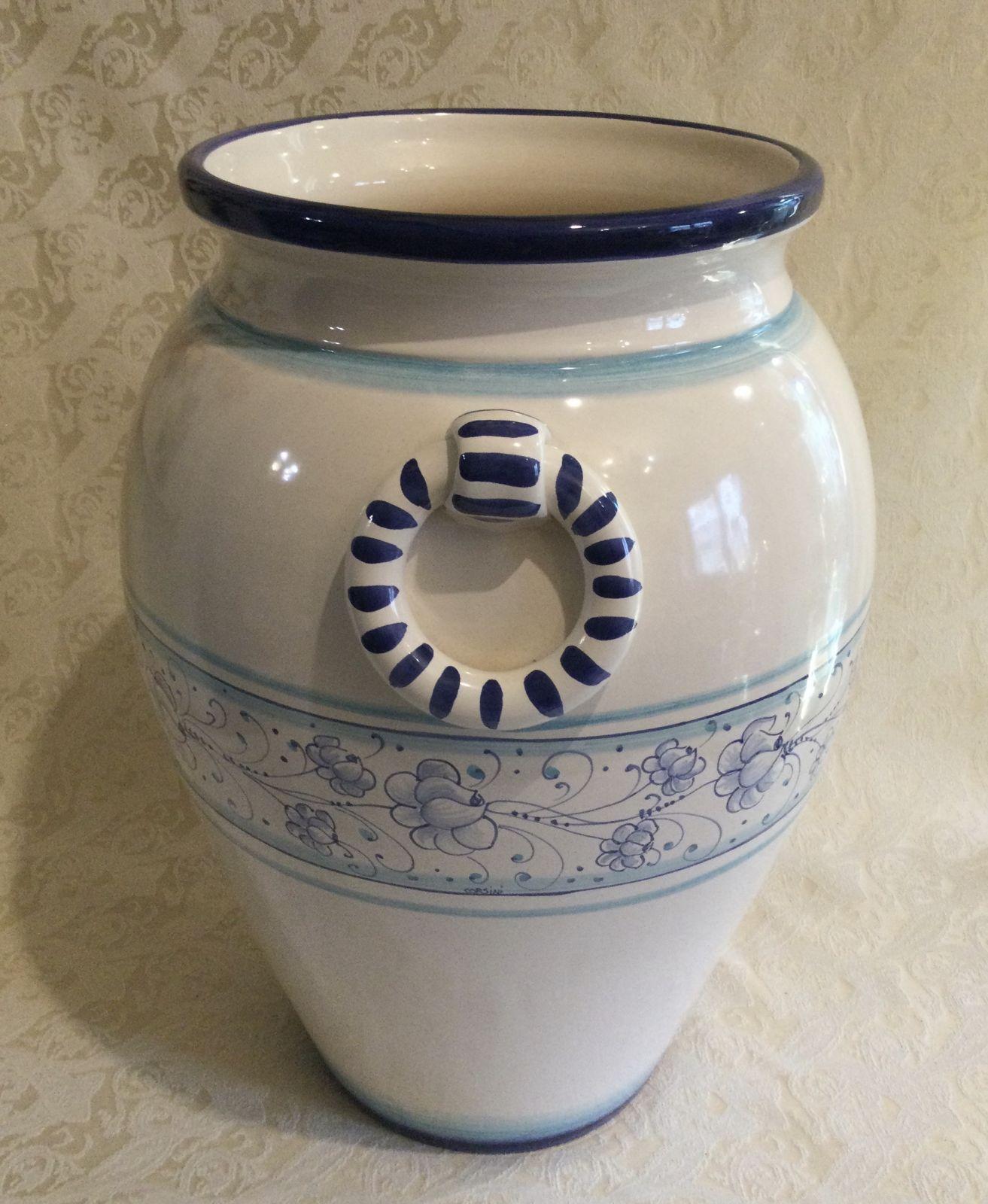 Portaombrelli h45 Roselline blu sfumato