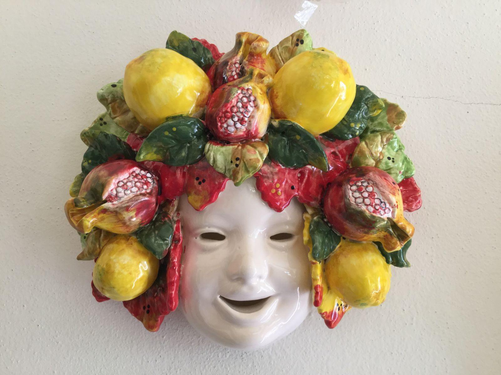 Maschera 25x25 con limoni&melograne