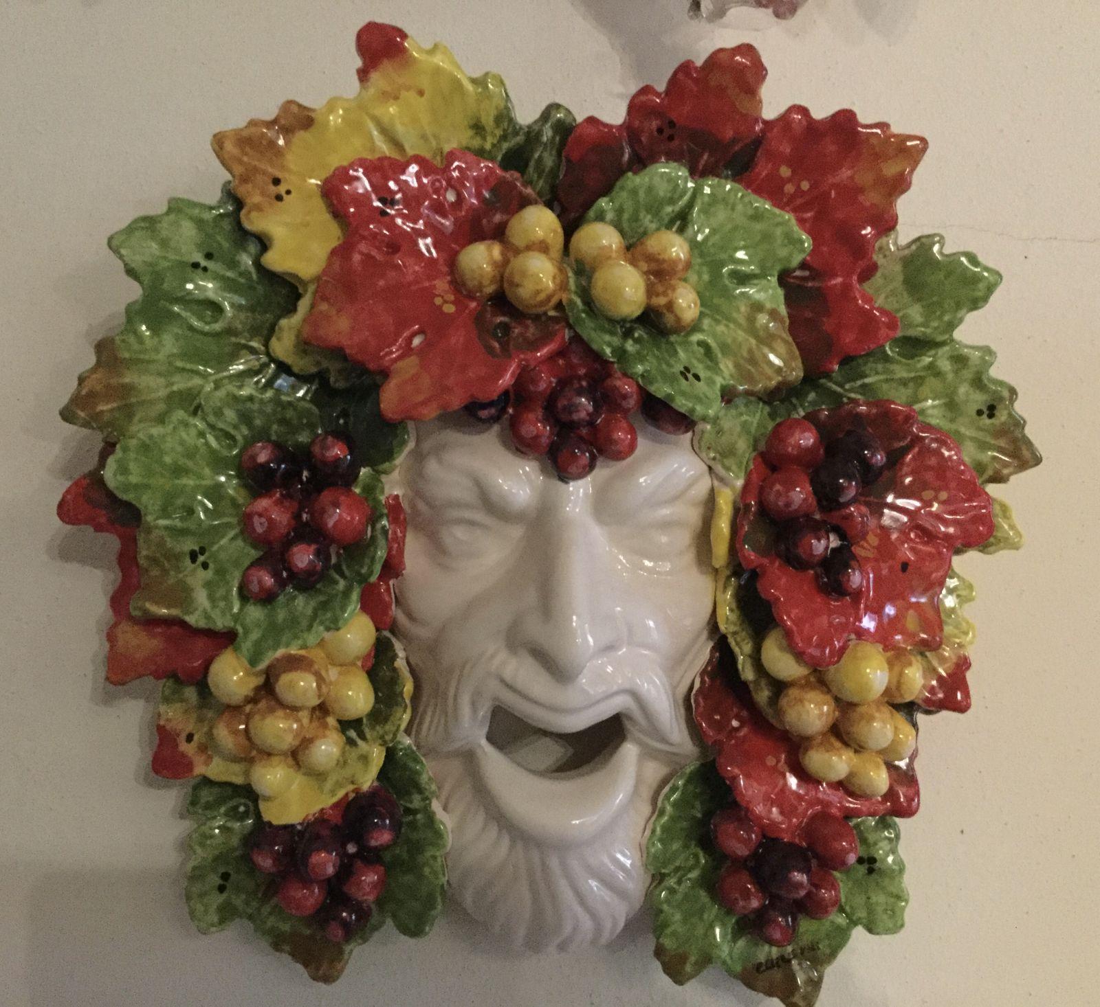 Maschera Bacco  con uva 32x32