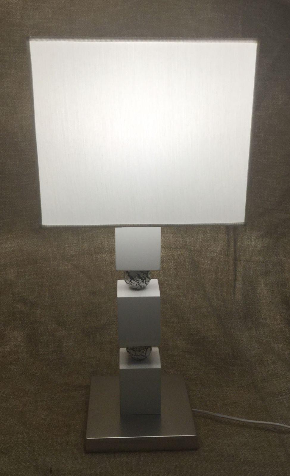 Base lampada legno&murano h50 base 20x20