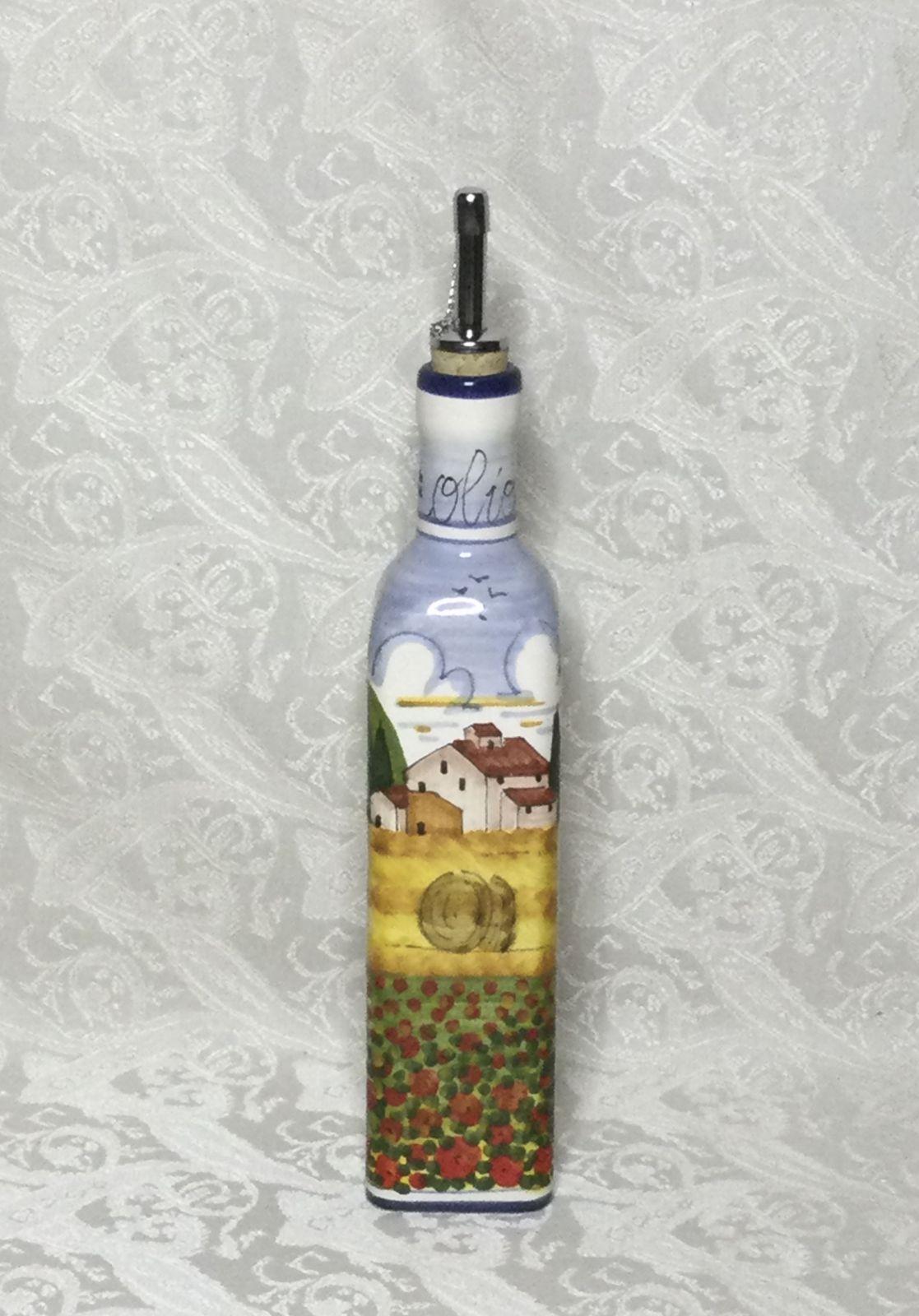 Ampolla olio h25 con paesaggio