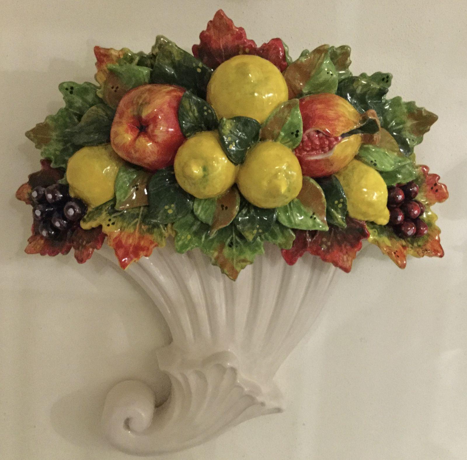 Cornocopia con frutta mista Cm 45x45