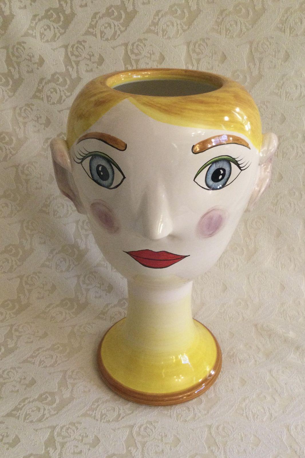 Busto donna giallo h35 base D16