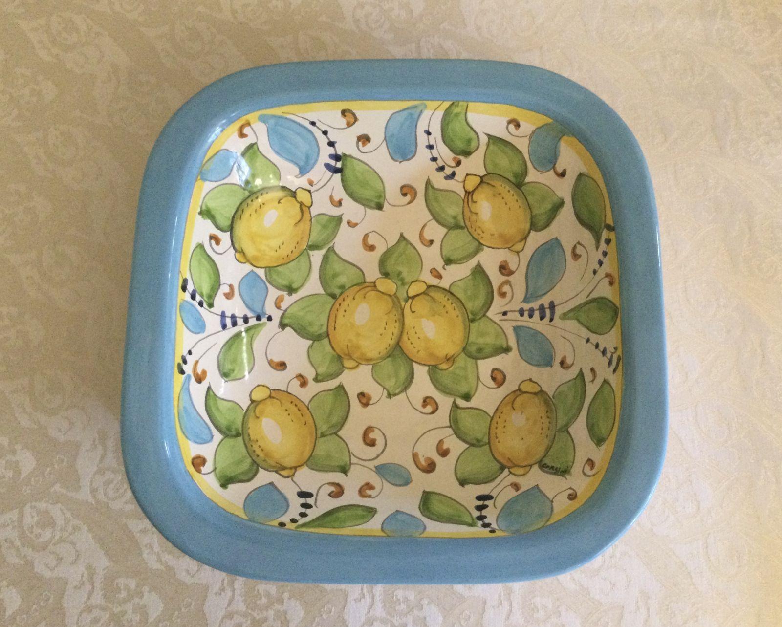 Bolo quadrato 30x30 limoni celesti