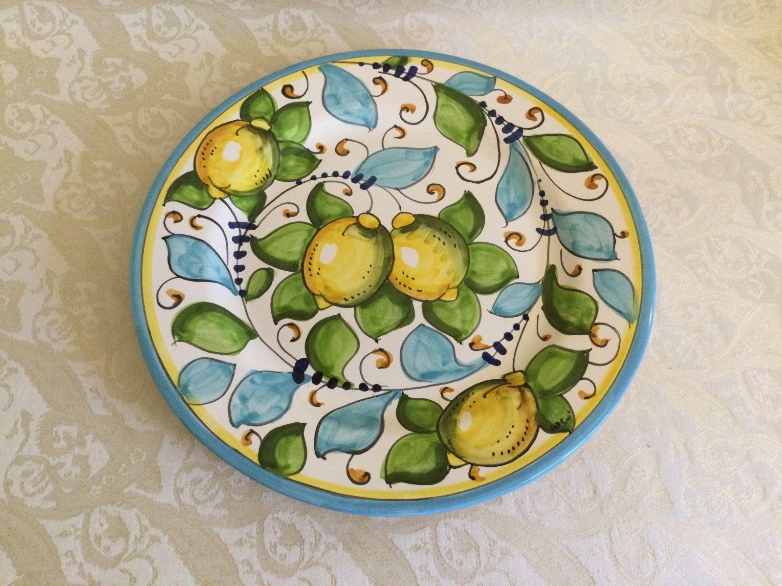 Piatto piano cm 29 limoni celesti