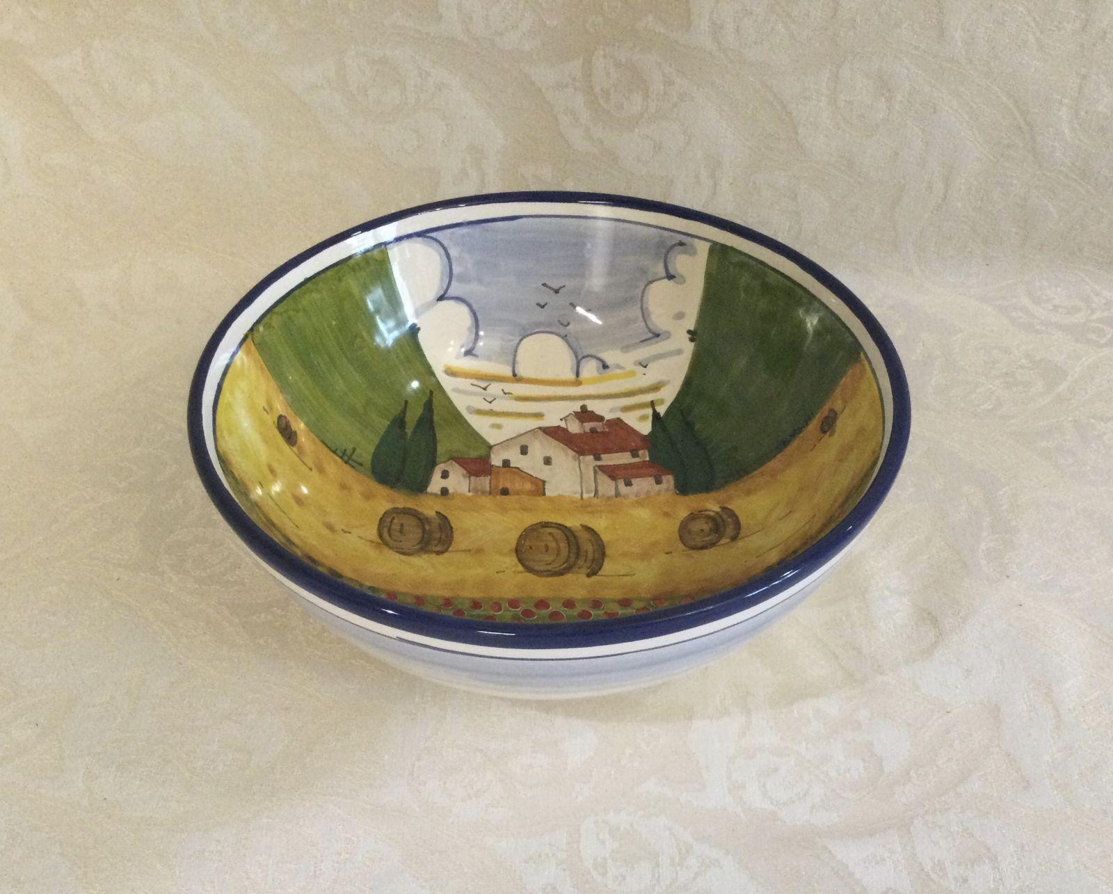 Bolo cm 40 con paesaggio toscano Papveri