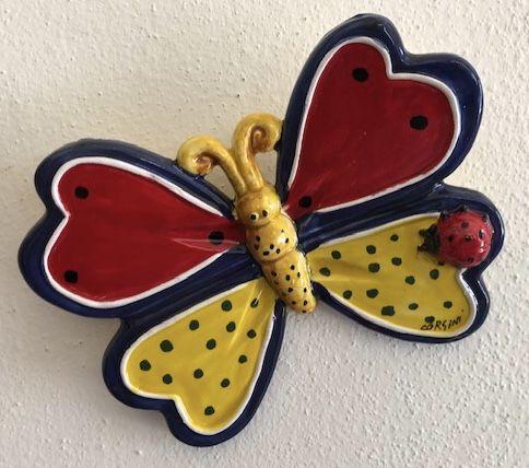 Farfalla con coccinella cm 14,5x10,5 (2)