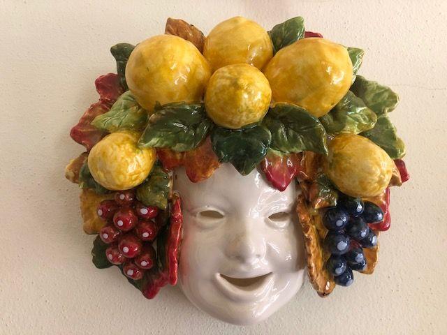 Maschera 25x25 con  uva&limoni