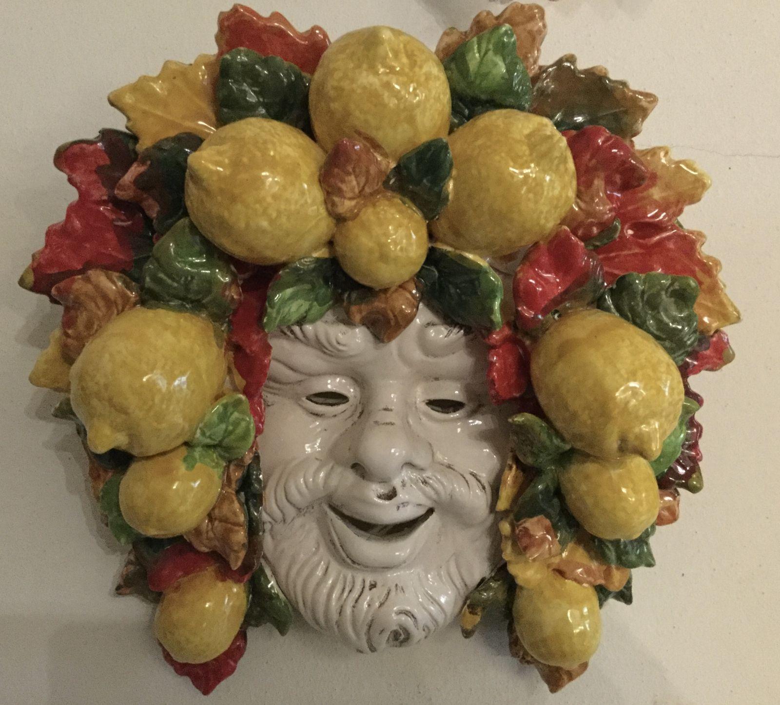 Maschera con limoni (4) 30x30