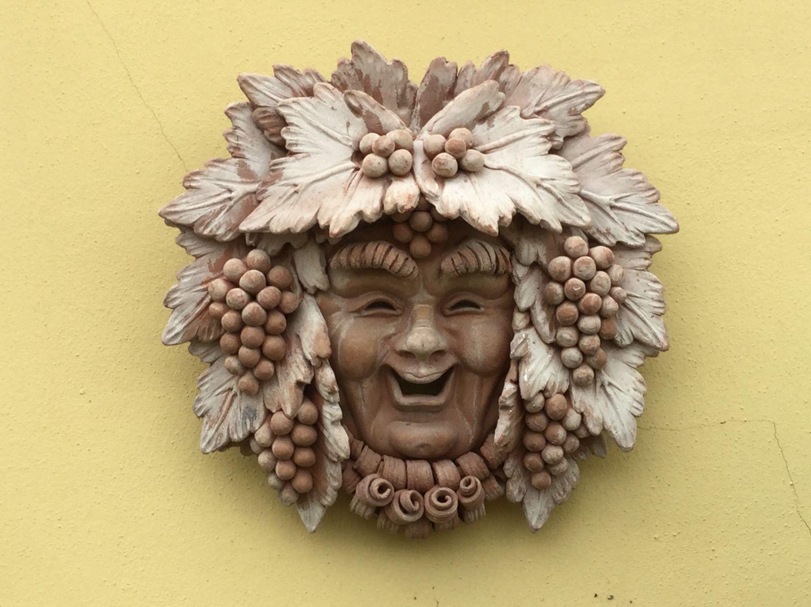 Maschera cm 40x40 con uva