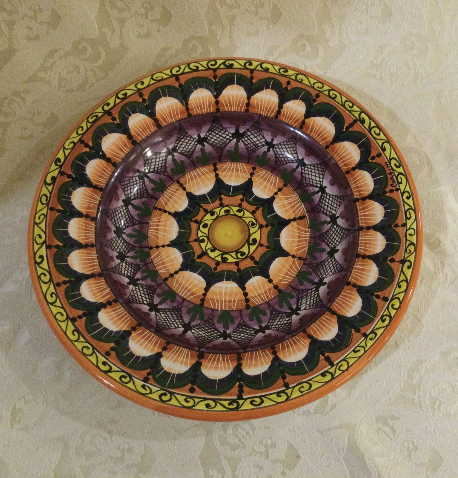 Piatto frutta cm 21 geometrico (2)