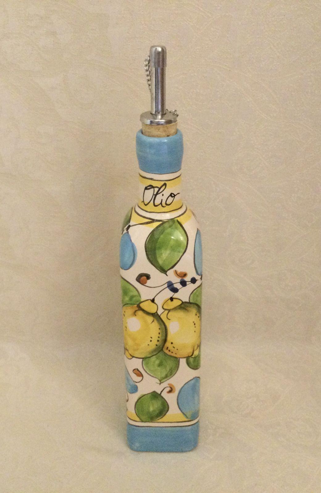Ampolla quadrata olio h25 limoni celesti