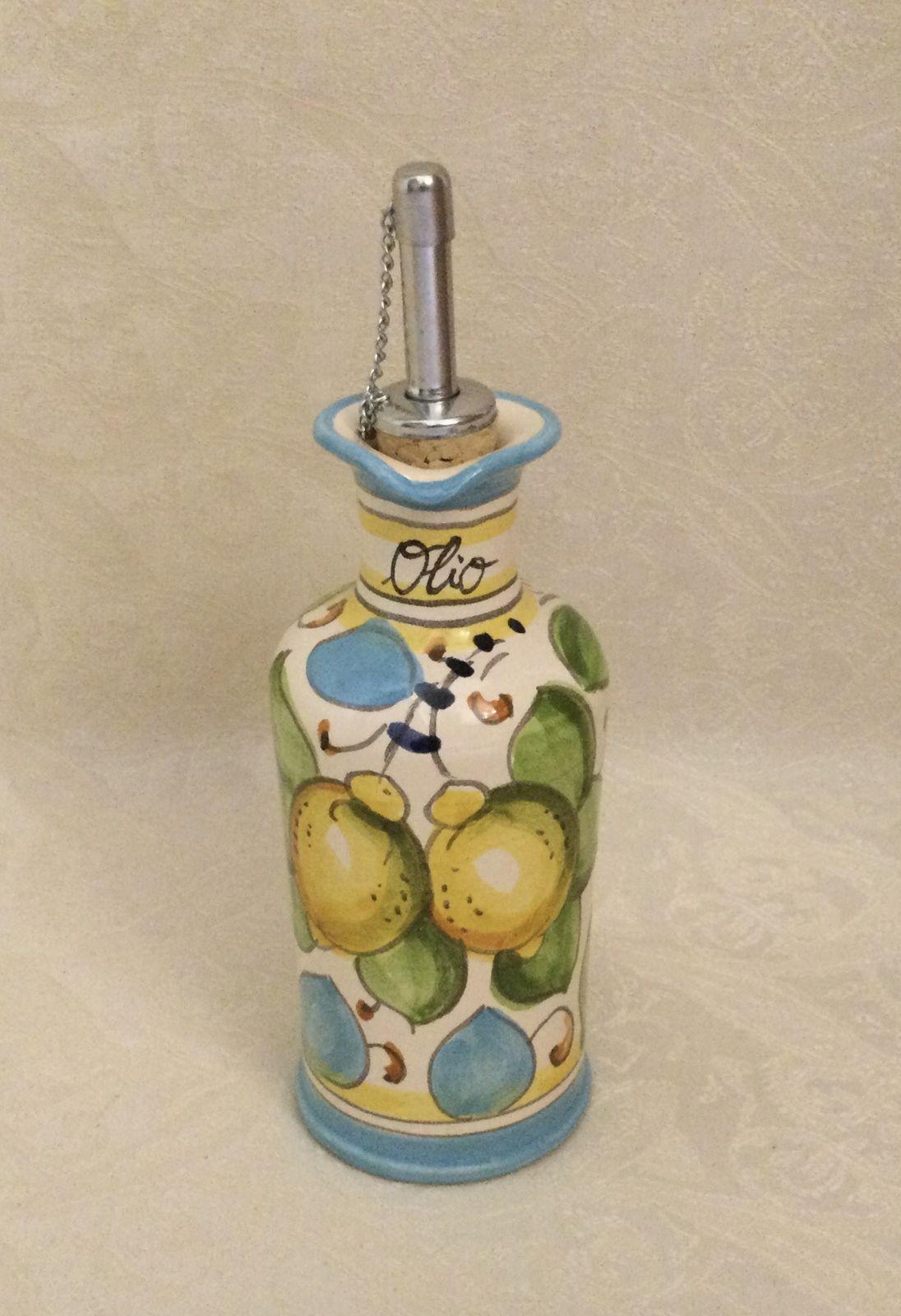 Ampolla olio con manico h26 limoni celesti