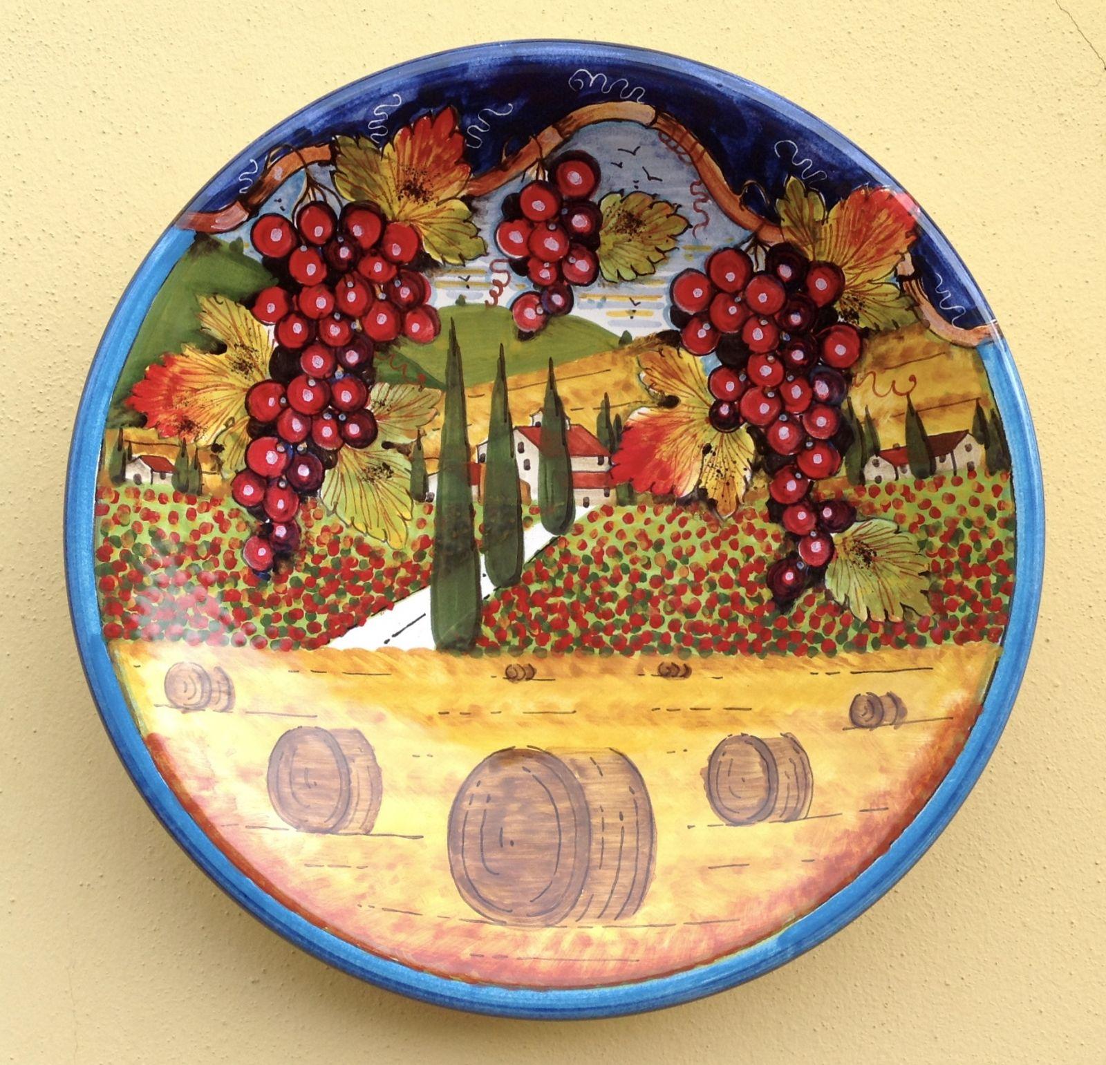 Piatto cm 35 paesaggio&uva